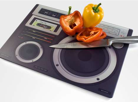 Boombox Chopping Board