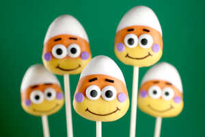 The Candy Corn Cake Pops are Goofy-Sweet Halloween Treats