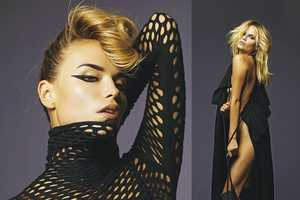 Natasha Poly for Madame Figaro Spices Up Drab Black Apparel