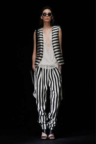 Linear Jailbird Lines - The Kenneth Cole Spring 2013 Collection Resembles Prison Apparel