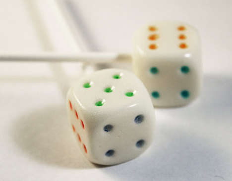 Rainbow Dice Lollipop
