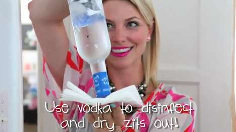 Cure Pimples with Vodke & Ice