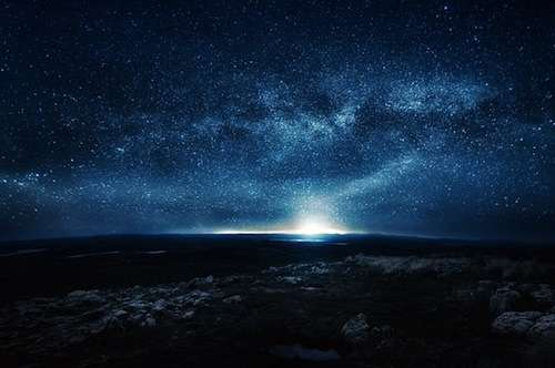 Solitary Starry Night Photos
