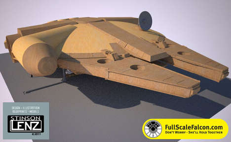 full-scale Millennium Falcon replica