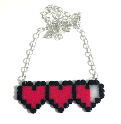 8-Bit Heart Meter Necklace