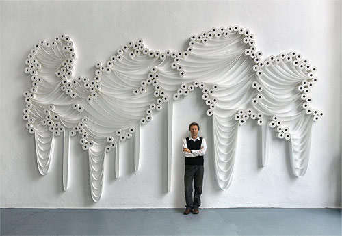 Toilet Paper Wall Installations