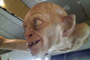 The Giant Gollum Sculpture by Weta Gets Can be Seen at the NZ Airport