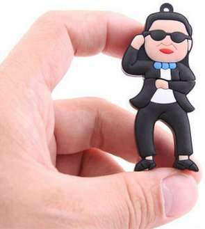 Internet Sensation Memory Sticks - The Psy Gangnam Style USB Drive Gets Its Groove On