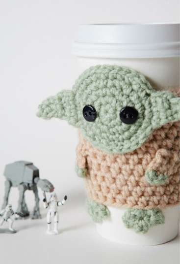 Sci-Fi Java Sleeves - The Yoda Coffee Cup Cozy is Cute and Nerdy