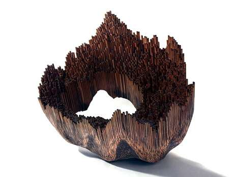 Jessica Drenk pencil sculptures