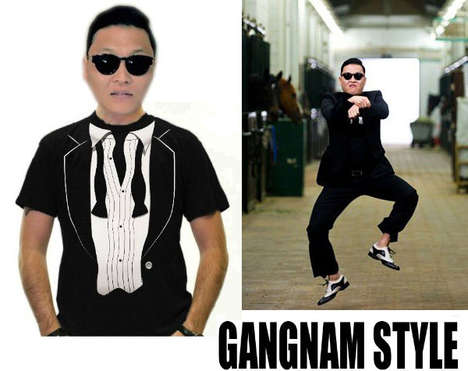 Viral Song Shirts - Break Out in Song and Dance Legitimately Wearing the Gangnam Style Shirt