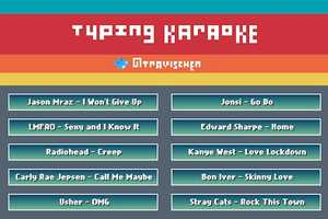 Typing Karaoke Tests How Fast You Can Pound Out Words to Popular Tracks