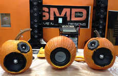 Powerful Pumpkin Speakers