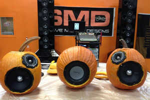 Blast Some Spooky Music on the Hand-Carved Pumpkin Sound System