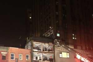 A Building Falls Apart During the Hurricane Sandy Devastation