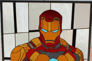 The Iron Man Stained Glass Window is Stunningly Heroic