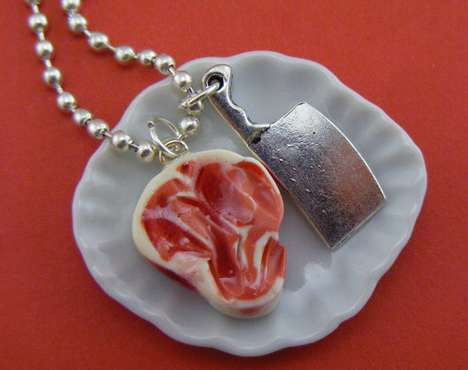Meat-Adorned Accessories - The Butcher's Necklace is a Great Item for a BBQ