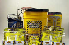 Compact Bucket Survival Kits - Stay Prepared in Natural Disasters with the Deluxe Honey Bucket Kit
