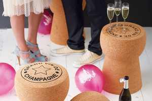 The Champagne Cork Furniture Presents a Wine and Dine Elegance