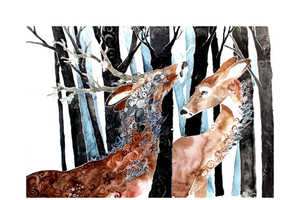 Peter Sandker Paints Stunning Forest Creature Artworks
