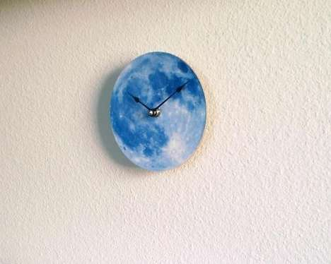 Moon Shaped Clocks