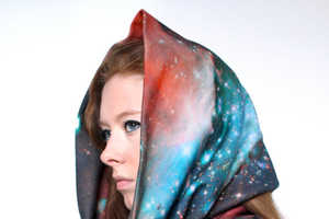 Shadow Play NYC makes Stunning Galatic Cotton Circle Scarves