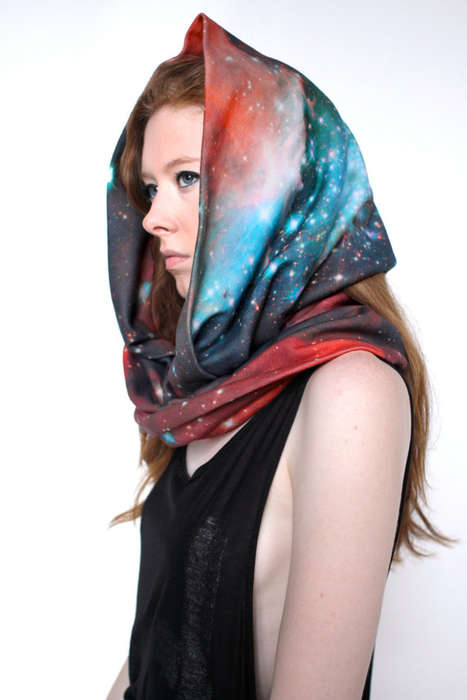 Space-Inspired Shawls - Shadow Play NYC makes Stunning Galatic Cotton Circle Scarves