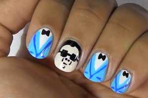 Show off Your Sweet Moves While Wearing Gangnam Style Nail Art