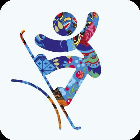 Kaleidoscopic Sport Pictograms - The 2014 Winter Olympic Games are Prepping with Psychedelic Images