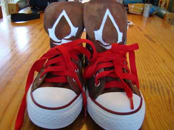 The Creed Converse Shoes by DeviantART User Technofortomcats are Divine