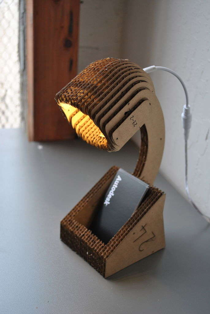 Cut Out Cardboard Lamps
