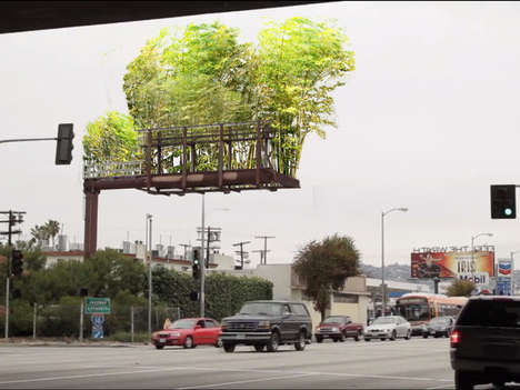 Bamboo Billboard Gardens - Urban Air by Stephen Glassman Aims to Beautify and Clean Cities
