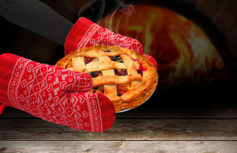 Heat-Proof Holiday Mitts - OvenKnits are Festive Christmas Themed Mittens for Your Oven