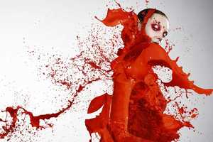 Iain Crawford Captures Models Wearing Clothes Made of Paint