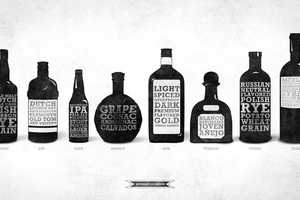 The 'Beverage of Choice' Collection Salutes Popular Alcohol Types & Brands