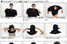 Stealthily Convert Your Shirt into a Ninja Mask T-Shirt