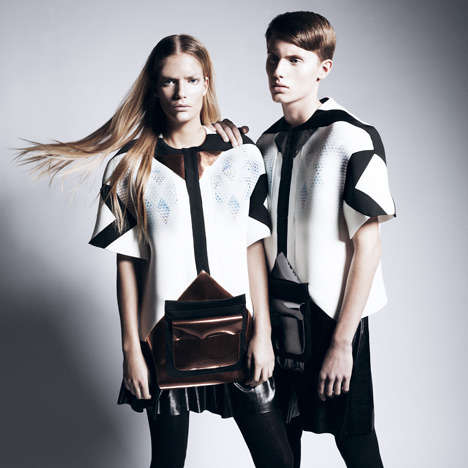 Ultramodern Unisex Uniforms - The Interieur 2012 Uniforms by Damien Ravn Showcased Norwegian Talent