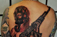 Zombie-Combating Body Art - This Walking Dead-Inspired Tattoo is Apocalypse Ready