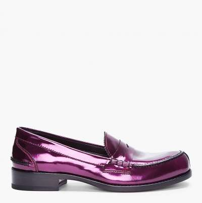 Jil Sander Metallic Patent Leather Loafer