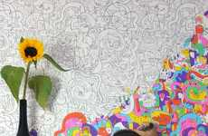 DIY Cartoon Wall Treatments