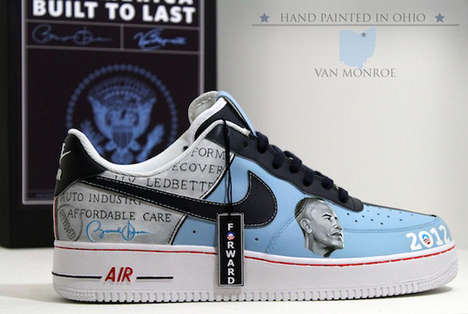 Presidential Re-Election Footwear - The 2012 President Obama Sneakers Celebrate Another Four Years