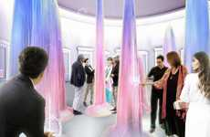 Technicolor Water Sculptures - Art Meadow Bath Hause Concept Creates a Dynamic Washroom Environment