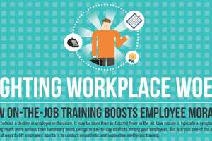 This Job Training Infographic Shares Ideas on How to Boost Morale