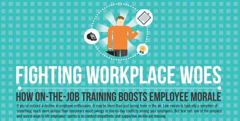 Neglectful Workplace Statistics - This Job Training Infographic Shares Ideas on How to Boost Morale