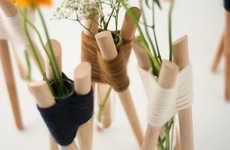 Simple Woven Flower Holders