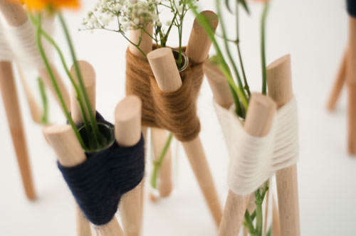 Simple Woven Flower Holders
