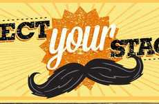 Iconic Mustache Styles - Select Your Stache Infographic Showcases Iconic Shaves