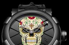 Holiday-Inspired Skull Timepieces - The 'Dia de los Muertos' Romain Jerome Watch is to Die For