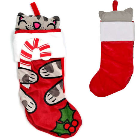 soft kitty christmas stocking