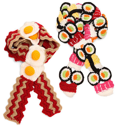 sushi and bacon scarves